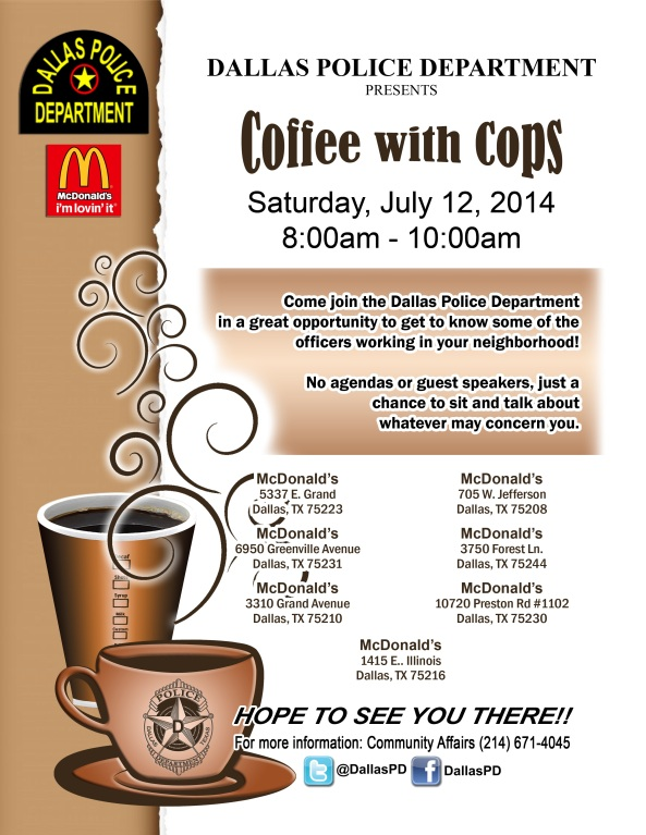 coffee with cops July 14