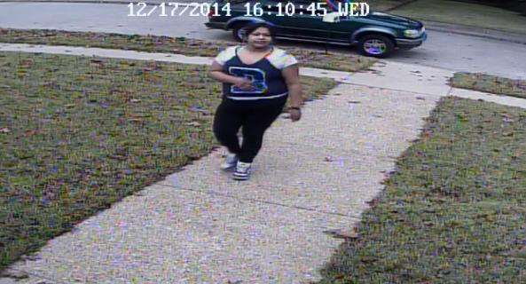 Porch Theft Suspect: Latin Female