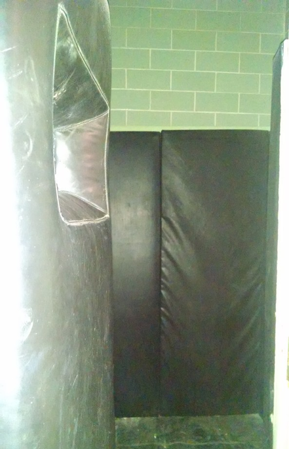 Padded cells for suspects who were harmful to themselves.