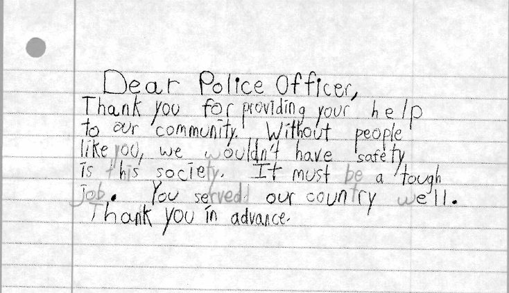 tyl2 - Letter To Police Officer