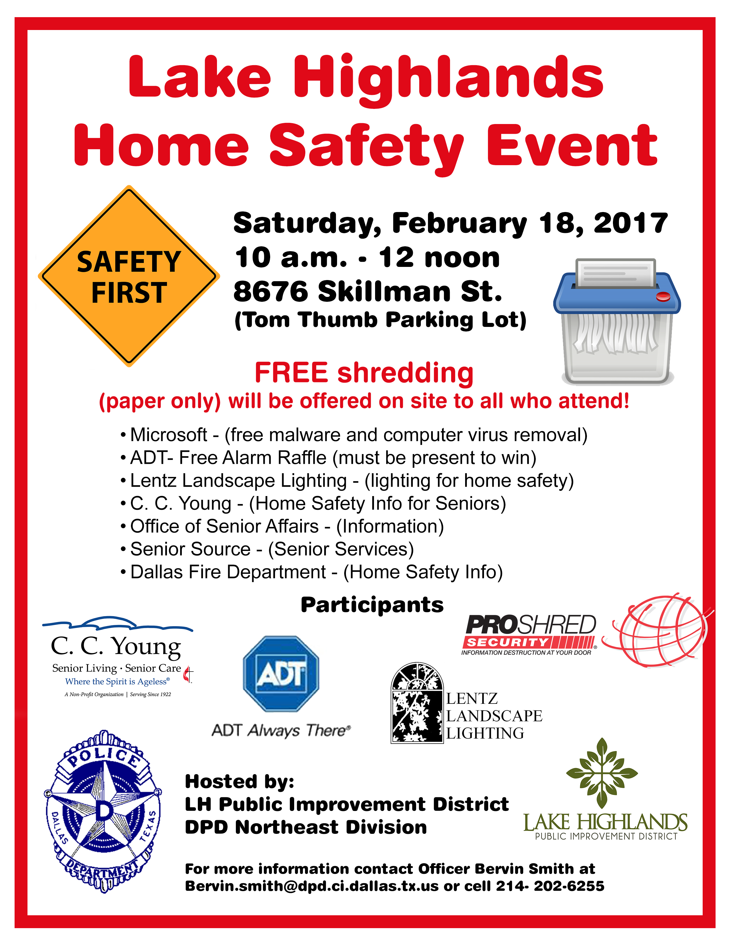 Lake highlands home safety event dpd beat safety event flyer 2017 3 aloadofball Gallery